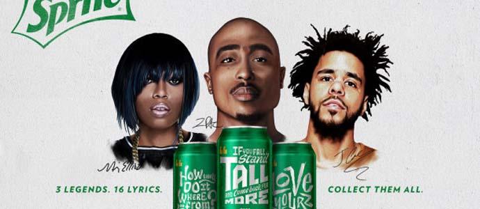 J. Cole, 2Pac и Missy Elliot появятся на банках Sprite